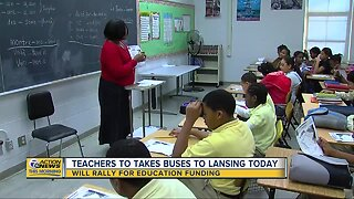 Michigan teachers rallying for education funding in Lansing