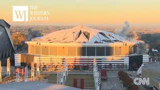 Video: Georgia Dome Goes Boom