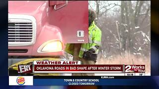 Crews working to clear Eastern Oklahoma roads (part 3) - Video