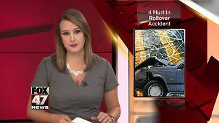 4 hurt in rollover accident in Ingham County