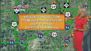 Weekend road construction report - Video