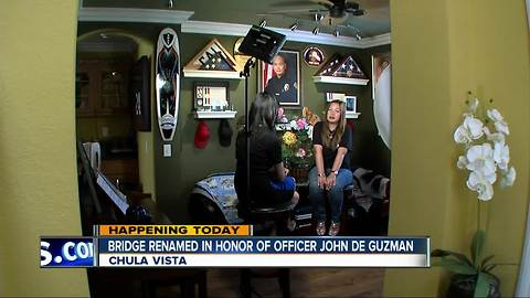 Chula Vista bridge re-named to honor Officer Jonathan De Guzman who was killed in action