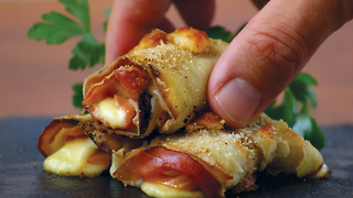 Stuffed eggplant rolls: an easy and tasty appetizer - Video