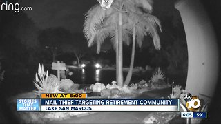 Mail thief puts Lake San Marcos residents on alert