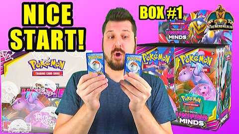Unified Minds Booster Case (Box 1) | Mewtwo & Mew Hunting | Pokemon Opening