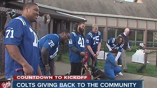 Colts give back with donation to the humane society - Video