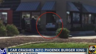 Car crashed into Phoenix Burger King - Video