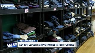 Ken-Ton Closet helps family who relocated from Puerto Rico and many others - Video