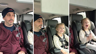 """Painfully hungover """"Uncle"""" can't hold contempt for kid's music and dancing in car - Video"""