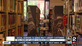 Social workers to start serving at Enoch Pratt Libary - Video