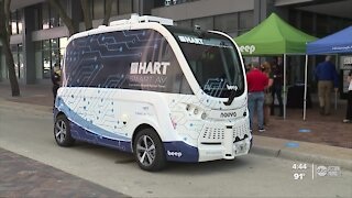 HART launching driverless shuttle in downtown Tampa