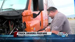 Truck drivers share how to prepare traveling to the east coast during winter storm - Video