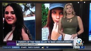 Parents of killed Parkland teens to make announcement