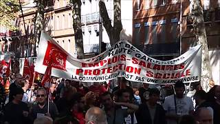 Hundreds march against Macron's labour reform in Toulouse - Video