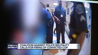 Coalition against police brutality calls for firing of convicted cop