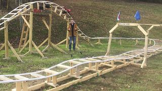 Bored 16-Year-Old Builds His Own Roller Coaster - Video