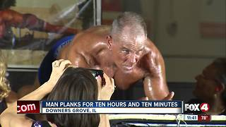 Man breaks world record for planking