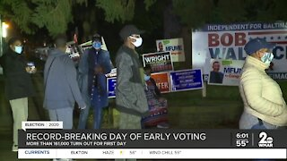 Record-breaking day of early voting