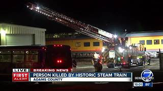 Steam Train strikes, kills pedestrian - Video