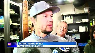 Mark Wahlberg makes a surprise visit to Detroit, urges Amazon to come here - Video