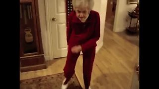 90-year-old blind grandma busts out some epic dance moves