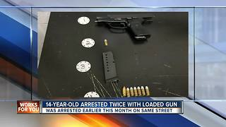 14-year-old arrested twice for having a loaded handgun - Video