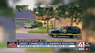 4 people hurt, suspect in custody after officer-involved shooting - Video