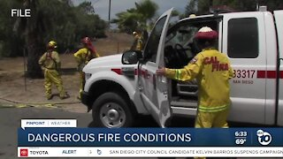 Staffing levels increase amid fire conditions in county