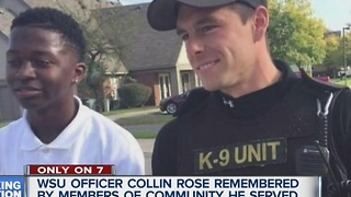 Community remembers Off. Collin Rose - Video