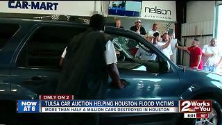 Used cars from Tulsa headed to Texas after storm - Video