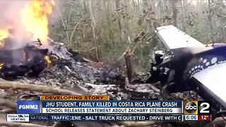 Johns Hopkins student among those killed in Costa Rica plane crash - Video