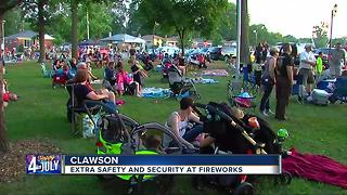 Security ramped up for Clawson's annual Fourth of July fireworks show