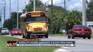 Dozens of children abandoned 10 blocks from school - Video