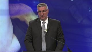 Governor Holcomb at Deputy Pickett's funeral:
