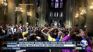 Colorado couple in Notre Dame cathedral during attack - Video