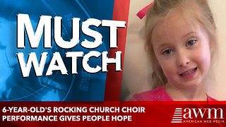 6-year-old's rocking church choir performance gives people hope - Video