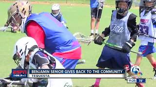 Benjamin lacrosse player holds youth camp - Video
