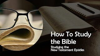 Studying the New Testament Epistles