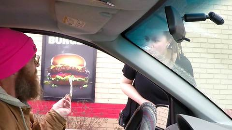 Man Gives Generous Tip To Unsuspecting Fast Food Employee