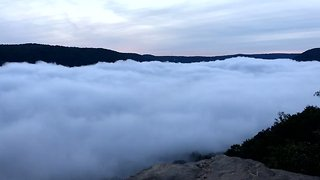 Timelapse Shows Clouds Moving Down Tennessee Gorge