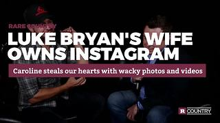 Luke Bryan's wife owns Instagram | Rare Country - Video
