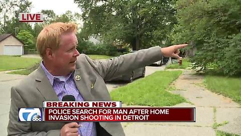Police search for man after home invasion shooting in Detroit