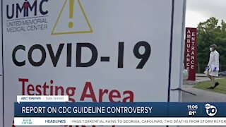 Report on CDC guideline controversy