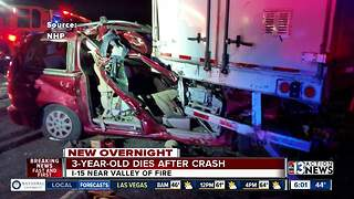 3-year-old girl killed in crash Sunday