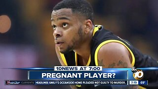 Male basketball player tested positive for pregnancy?