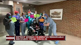 Detroit woman celebrates remarkable recovery from COVID-19