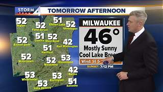 Highs in the upper 50s inland Tuesday and sunny - Video