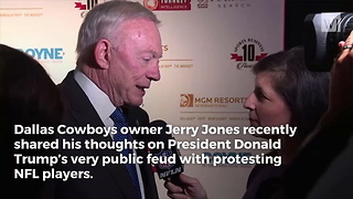 Cowboys Owner Jerry Jones Responds to Trump's NFL Comments - Video