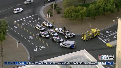 Police on scene of incident near Mandalay Bay