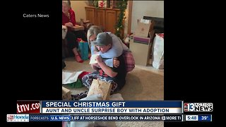 Boy receives special Christmas gift